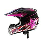 LOLIVEVE Motorrad Road Racing Cross Country Helm Kreuz Helm Rosa Stern