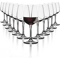 Pasabahce Bicchieri per Vino Rosso / 370 ml / Set da 12 / Bicchieri di Alta qualità / Lavabile in lavastoviglie