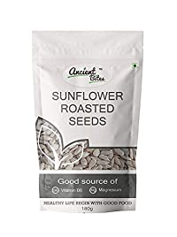 Ancient Bites Roasted Sunflower Seeds | Unsalted (180 g)