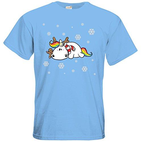 getshirts - Pummeleinhorn - T-Shirt - xmas Sky Blue