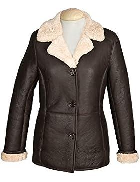 Eastern Counties Leather - Abrigo de piel de oveja de estilo aviador modelo Rhianna