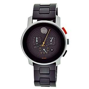 Movado Bold 3600098 46mm Titanium Case Polyurethane Mineral Men's Watch