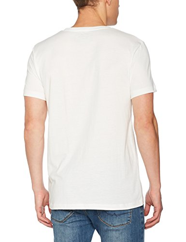 TOM TAILOR Denim Herren T-Shirt Photo Print Crew Beige (Slightly Creamy 2132)