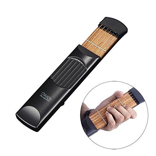 JAYLONG Tragbare Pocket Guitar Trainer Finger Trainer Akkord Praxis Werkzeug 4 Bünde (Musikinstrument Akkord)