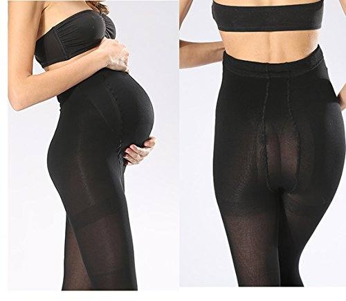 Womes's Maternity Opaque Full Belly Tights 180D Black