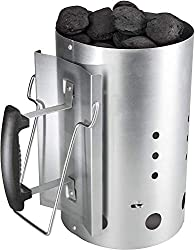 Bruzzzler Ignition Chimney, with plastic safety handle and second folding handle, charcoal lighter firing column, grill fireplace lighter, 31 x 19,5 x 30,5 cm