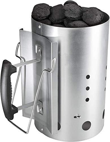 Bruzzzler - Chimenea de encendido con mango de seguridad - encendedor de barbacoa de carbón 31 x 19,5...