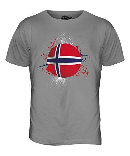 CandyMix Norwegen Fußball Herren T Shirt Hellgrau