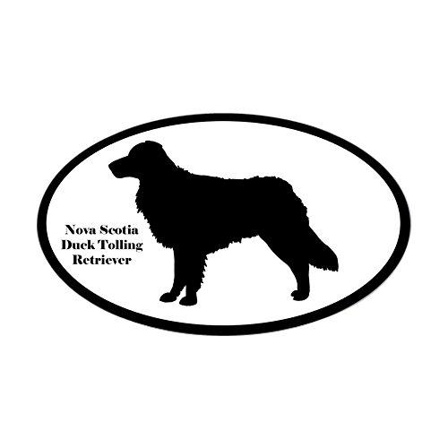 CafePress-Nova Scotia Duck Tolling Silhouette Oval Aufkleber-oval Bumper Sticker KFZ Aufkleber, weiß, Large - 4.5x7.5 -