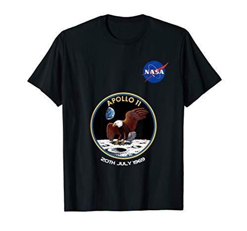 Nasa Logo Apollo 11 Patch Tshirt   20 Juli 1969 Geschenk -