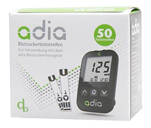 adia Blutzuckerteststreifen [50 Stück] – die günstige und einfache Blutzuckermessung!