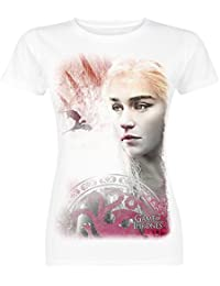 Game Of Thrones Daenerys Targaryen - Mother Of Dragons Girl-Shirt weiß
