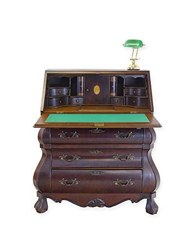 Antike Fundgrube Sekretär Schreibsekretär Schreibschrank Neo Barock Stil um 1960 Nussbaum (6706) -