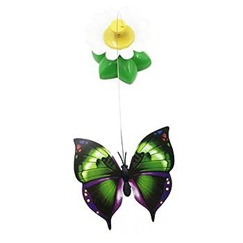 Kiao Jouet Rotatif Electronique Interactif Tournant en forme de Papillon/Oiseauet Pour Chat Chaton