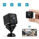 FREDI Mini Caméra Espion, Caméra Portable Surveillance Caméra avec Vision Nocturne/Détection de Mouvement/Enregistrement en Boucle Support Magnétique Flexible pour la Maison et Le Bureau