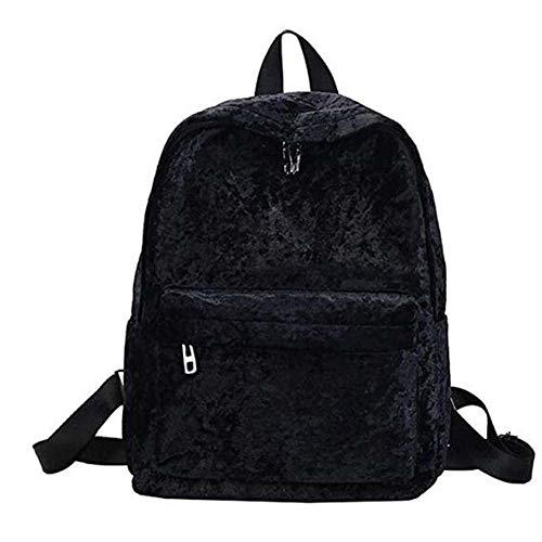 Rucksack Große Kapazität Tasche Für Mädchen Im Teenageralter Weiblichen Rucksack Schüler Schule Aufbewahrungstasche Mochila (Color : Black) ()