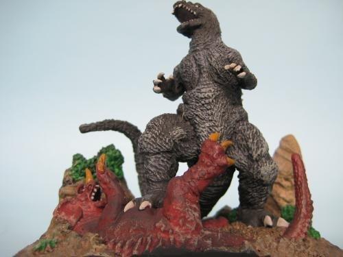 Polystone collection SCENE M-2 Godzilla (Vol.2) / vs. Baragon Godzilla, Mothra and King Ghidorah: Giant Monsters All-Out Attack by Bandai (Godzilla Mothra Spielzeug)