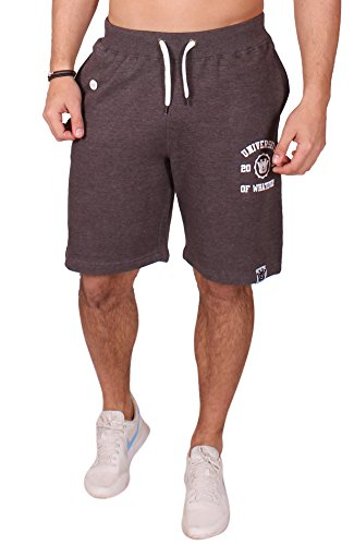 Uni of Whatever Herren Jogginghose kurz Anthrazit L Fleece Sweatshort Casual Jersey shorts Designer