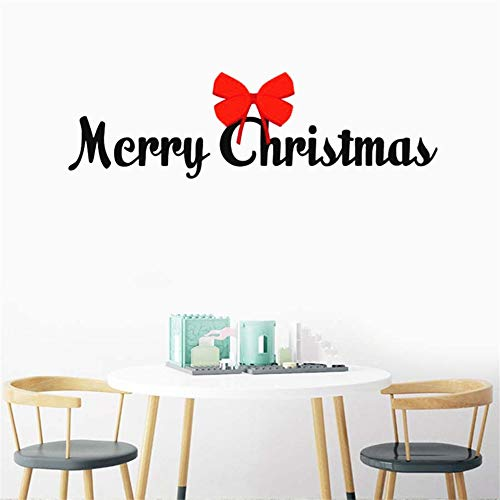 Wandtattoo Schlafzimmer Wall Decoration Merry Christmas Room Sticker Art Poster Bow Mural Beauty Ornament Fashion Words Decal for living room -