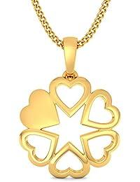 BlueStone 22k (916) Yellow Gold Starry Love Pendant
