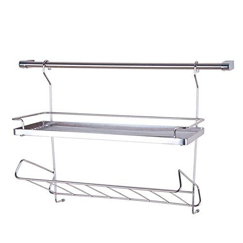LUYIASI- Edelstahl Dressing Racks Küche Regal Wand hängen Küche hängen Anhänger Shelf -