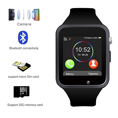 Kivors Bluetooth Smart Watch with Sim Card Slot GSM Sport Watch Activity Tracker with Pedometer Smart Health Wrist Watch Phone For Android/IOS Mobile Phone