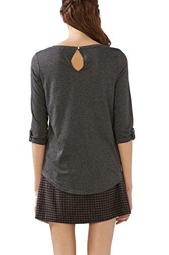 edc by Esprit 106cc1k074, T-Shirt Femme Gris (anthracite 5 014)