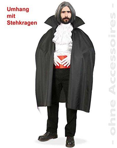 Vampir Dracula Umhang XL Überwurf mit Stehkragen Halloween Kostüm SB Unisex