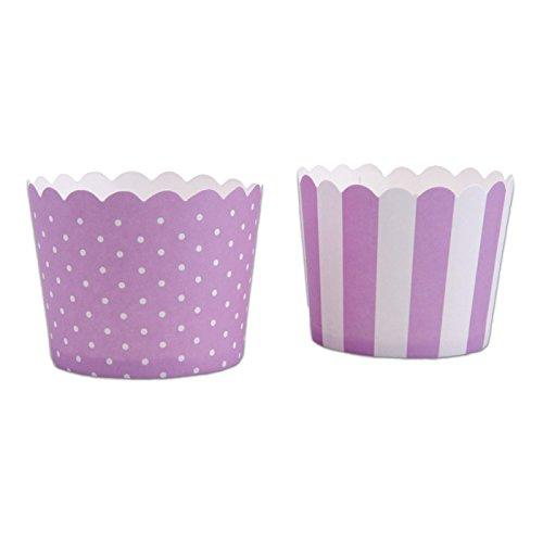 Lila Weiß Cupcake, Violett, 12-teilig ()