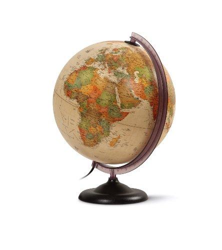 Q-Connect 71692 Globe type antique géographique diamètre 30cm