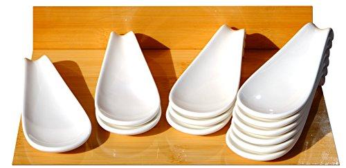 Canapés affichage Cuillère en céramique Blanc 4,7x 12x 12