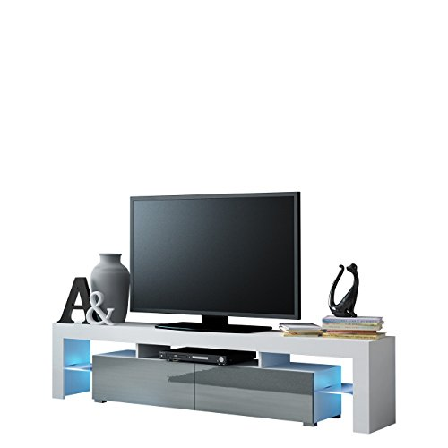 Möbel Tv Schrank Lowboard Hängeboard Simple Mit Led Blau