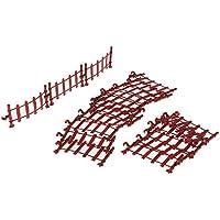 non-brand 20 Piezas Mini Modelo de Cerca Juguete en Miniatura HO Escala para Diorama Diseño