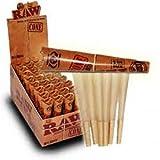 Raw Classic 1 -  1/4 dimensioni fenheb di Karitè cartine per sigarette blingworld - 1 x 6 coni - , 32 confezioni (scatola di coni 192) da Trendz