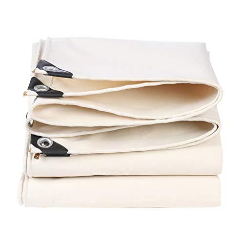ZHANGGUOHUA wasserdichte Hochleistungsplane verdicken weißes regendichtes Tuch-Segeltuch-Auto-LKW-Sonnenschutz-Schatten-Überdachungs-Tuch im Freien (Color : White, Size : 1.5x2m)