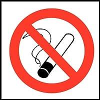 No Smoking Symbol-Zeichen. Selbstklebende Vinyl. 100 x 100mm. preisvergleich bei billige-tabletten.eu
