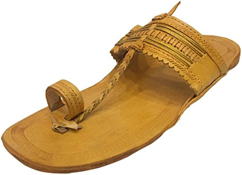 Step n Style - Zapatillas de estar por casa de Piel para hombre marrón marrón claro