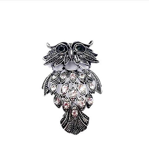 X-Z Vintage Vogel Eule Broschen Antique Bouquet Strass Tier Brosche Männer Frauen Hochzeit Schal Clips Pins Schmuck (Tie Vogel Clip)