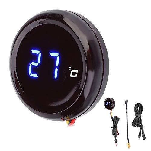Vobor Motorrad Thermometer-Digital Thermometer Wassertemperaturanzeige Manometer für Honda Kawasaki Yamaha Suzuki (Farbe : Blue Light)