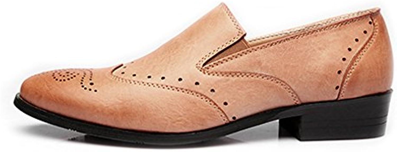 ZX Leder Oxford Schuhe  Low Top Business Schuhe Matte Atmungsaktiv Hohl Carving PU Leder Slip on AusgekleidetZX Business Atmungsaktiv PU Leder Ausgekleidet