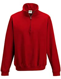 AWDis Women's Sophomore ¼ zip Sweatshirt Ribbed Cuffs and Hem 80% Ringspun Cotton 20% Polyester