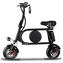 Bicicleta EléCtrica PortáTil Plegable,Bici Plegable Scooter,Rango De 25-45 Km,Adecuado para Viajes Cortos, Escuelas, Desplazamientos Al Trabajo, Evitando Atascos De TráFico