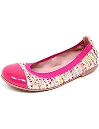Pretty Ballerinas E1904 Ballerina Bimba Tissue Fucsia Scarpe Shoe Kid Girl