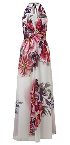 Benedict Halter Print Maxi Dress