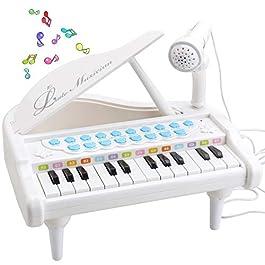 Amy & Benton Bambini Pianoforte Giocattolo, Piccolo Musicali Tastiera per Bambina Regali 1 2 3 A