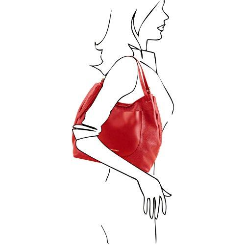 Tuscany Leather Cinzia - Borsa shopping in pelle morbida Rosso Borse donna a tracolla Testa di Moro