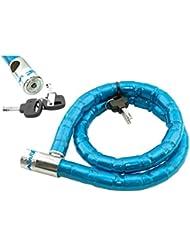 Candado de Rotulas Acero Forrada de PVC Bicicleta de Montaña MTB y Moto 2965