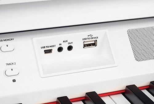 Steinmayer DP-380 WM Digitalpiano (88 Tasten, Holztasten, Hammermechanik, Triple-Sensor-System, LCD, Begleitautomatik, 2 Kopfhöreranschlüsse, 1 Mikrofonanschluss mit eigenen EQ-Einstellungen und Effekten, MP3 Player) weiß matt - 8
