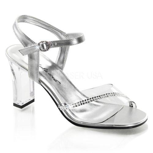 Fabulicious, Sandali Donna (clear-silver Met Pu)