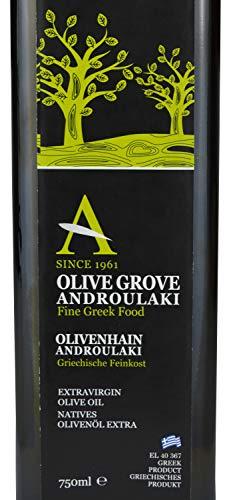 Mildes Olivenöl (Olivenöl Androulakis Extra Natives Olivenöl 750ml - Olivenöl kaltgepresst aus Kreta, Griechenland)